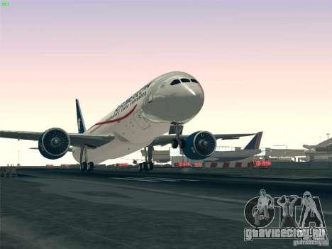 Boeing 787-8 Dreamliner AeroMexico для GTA San Andreas салон