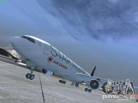 Airbus A330-300 Air Canada для GTA San Andreas вид слева