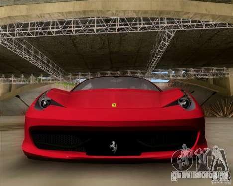Ferrari 458 Italia V12 TT Black Revel для GTA San Andreas вид слева