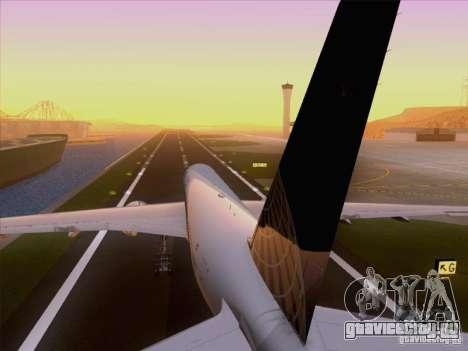 Boeing 777-200 United Airlines для GTA San Andreas вид сбоку