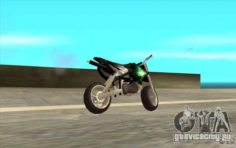 Black Rockstar Moto Cross для GTA San Andreas вид слева