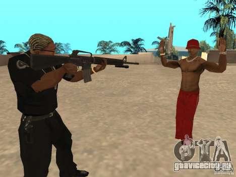 M4A1 from Left 4 Dead 2 для GTA San Andreas второй скриншот
