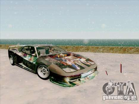 Ferrari Testarossa Custom для GTA San Andreas вид изнутри