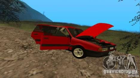 Audi 80 B3 v2.0 для GTA San Andreas вид изнутри