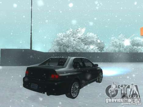 Mitsubishi Lancer Evo IX MR Evolution для GTA San Andreas вид сзади