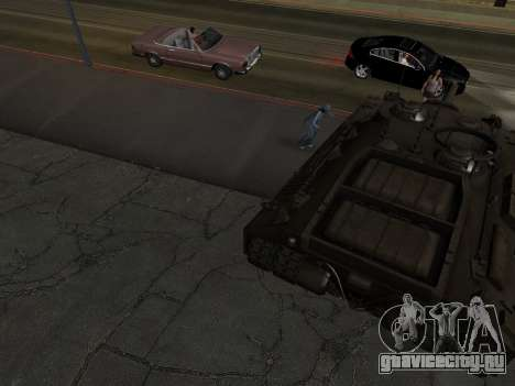 ПТ-САУ T95 для GTA San Andreas вид сбоку