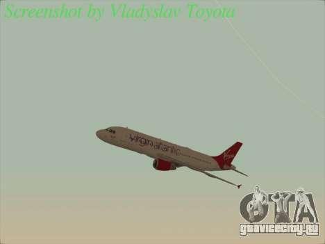 Airbus A320-211 Virgin Atlantic для GTA San Andreas вид сбоку
