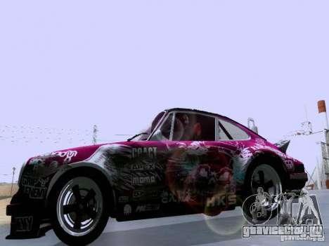 Porsche 911 Pink Power для GTA San Andreas вид изнутри