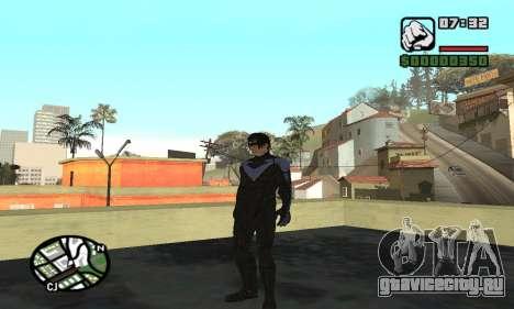 Nightwing skin для GTA San Andreas четвёртый скриншот