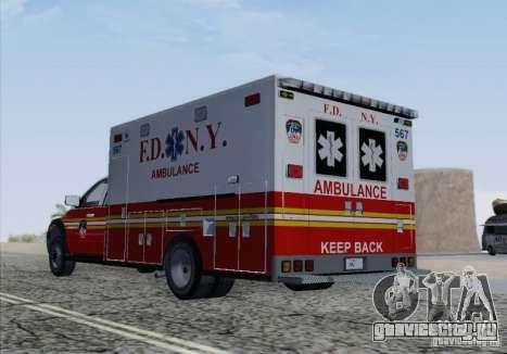 Dodge Ram Ambulance для GTA San Andreas вид сверху