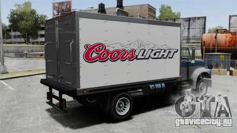 Новая реклама для грузовика Yankee для GTA 4 вид слева