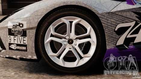 Lamborghini Aventador LP700-4 2012 Galag Gumball для GTA 4 вид изнутри