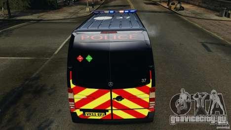 Mercedes-Benz Sprinter Police [ELS] для GTA 4 двигатель