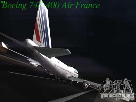 Boeing 747-400 Air France для GTA San Andreas вид сзади