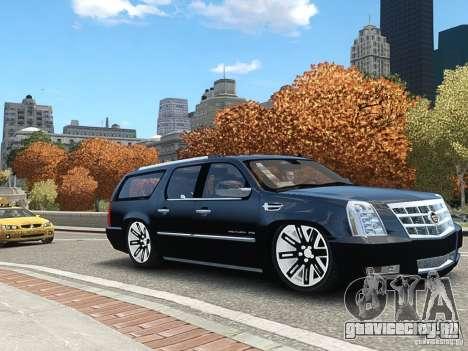 Cadillac Escalade ESV 2012 DUB для GTA 4 вид сзади слева
