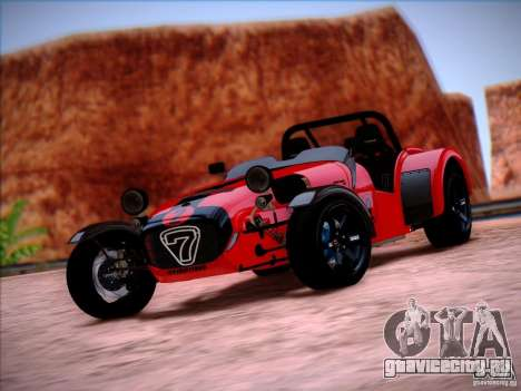 Caterham Superlight R500 для GTA San Andreas вид справа