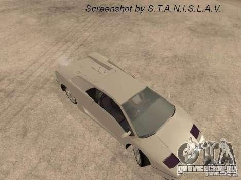 Lamborghini Diablo для GTA San Andreas вид сзади