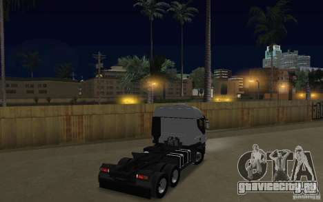 Iveco Stralis Double Trailers для GTA San Andreas вид справа