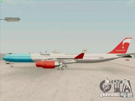 Airbus A-340-600 Plummet для GTA San Andreas вид слева