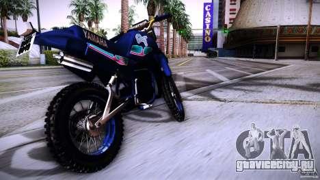 Yamaha DT 180 для GTA San Andreas вид сзади слева