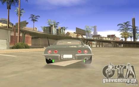 Chevrolet Corvette Stingray Monster Energy для GTA San Andreas вид сверху