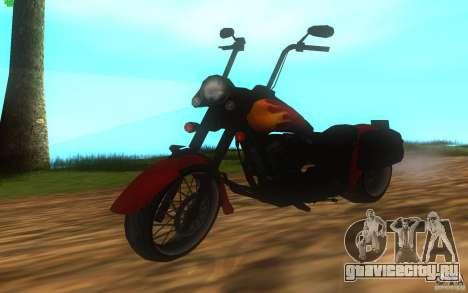 Motorcycle from Mercenaries 2 для GTA San Andreas вид сзади слева