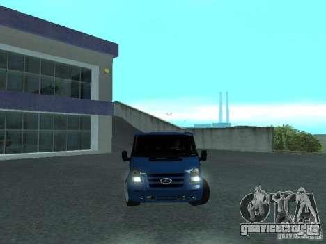 Ford Transit Sport 2011 для GTA San Andreas вид сзади