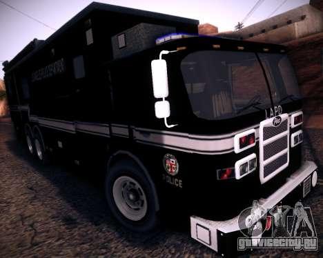 Pierce Contendor LAPD SWAT для GTA San Andreas