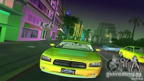 Dodge Charger RT для GTA Vice City вид сзади слева