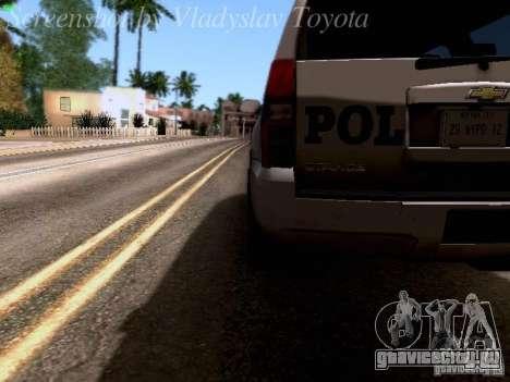 Chevrolet Tahoe 2007 NYPD для GTA San Andreas вид сбоку