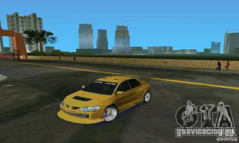 Mitsubishi Lancer Evo для GTA Vice City вид слева