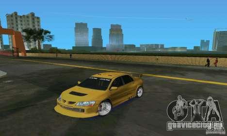 Mitsubishi Lancer Evo для GTA Vice City вид слева