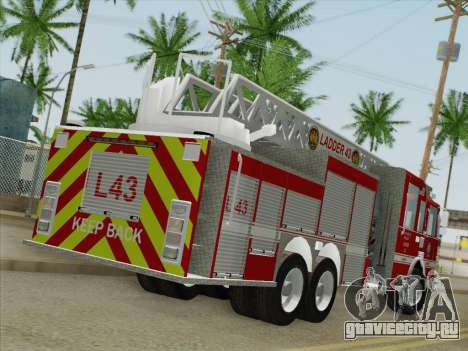 Pierce Arrow LAFD Ladder 43 для GTA San Andreas вид сзади слева