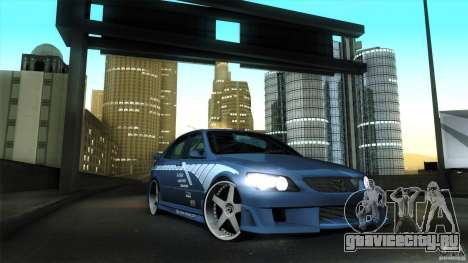 Lexus IS 300 Veilside для GTA San Andreas вид изнутри