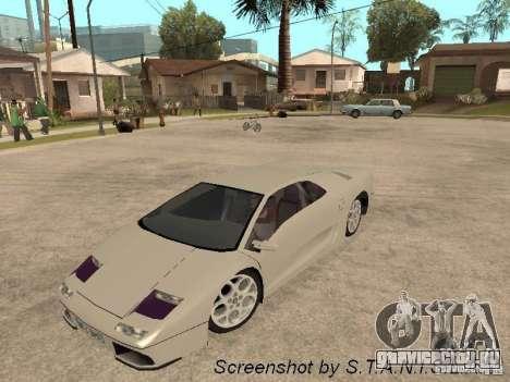Lamborghini Diablo для GTA San Andreas вид справа
