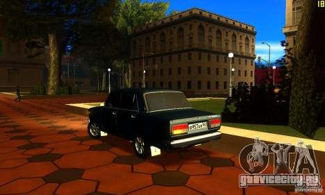 ВАЗ 2107 v2.0 для GTA San Andreas вид слева