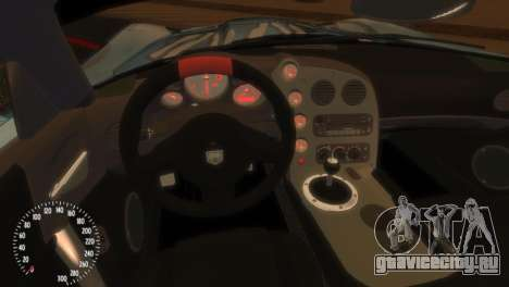 Dodge Viper SRT-10 Mopar Drift для GTA 4 вид сзади