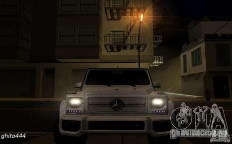 Mercedes Benz G65 AMG для GTA San Andreas вид сзади
