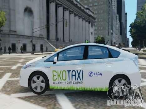 Toyota Prius EKO TAXI (Hrvatski taxi) для GTA 4 вид слева