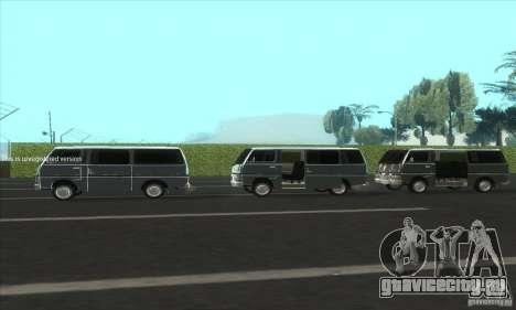 Nissan Caravan E20 для GTA San Andreas вид изнутри