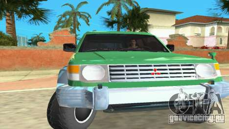 Mitsubishi Pajero 1993 для GTA Vice City вид слева