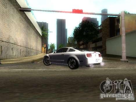 Ford Shelby GT 2008 для GTA San Andreas вид изнутри