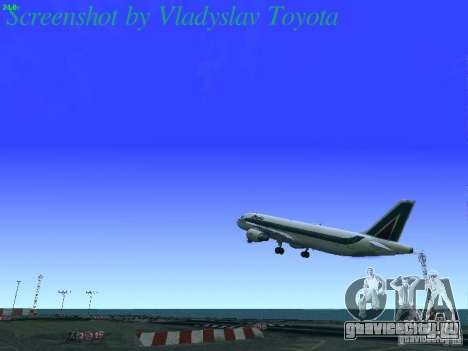 Airbus A320-214 Alitalia v.1.0 для GTA San Andreas салон
