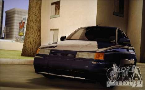 ВАЗ 2110 Сток для GTA San Andreas вид сзади