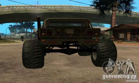 Monster Patriot для GTA San Andreas вид слева