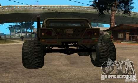 Monster Patriot для GTA San Andreas вид слева