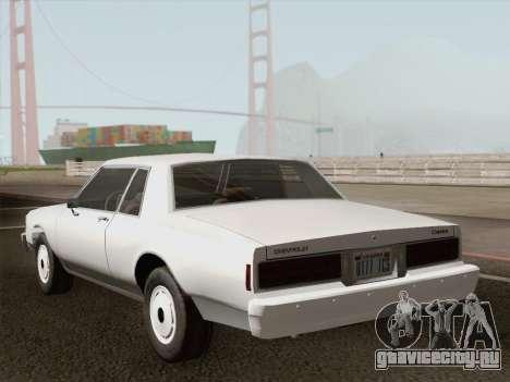 Chevrolet Caprice 1986 для GTA San Andreas двигатель
