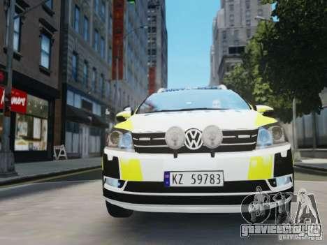 Volkswagen Passat B7 Variant 2012 для GTA 4 вид сбоку