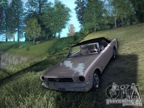 Ford Mustang Convertible 1964 для GTA San Andreas вид сзади слева