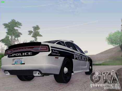 Dodge Charger 2012 Police для GTA San Andreas вид сзади